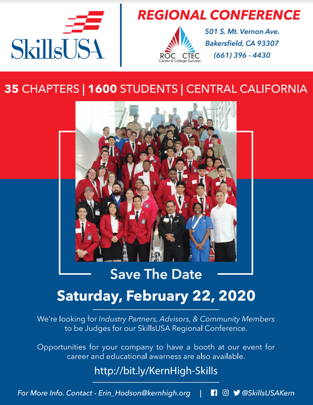 SkillsUSA volunteer flyer