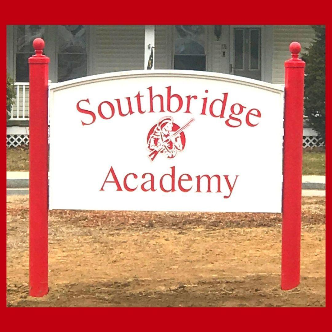The sign outside Southbridge Academy