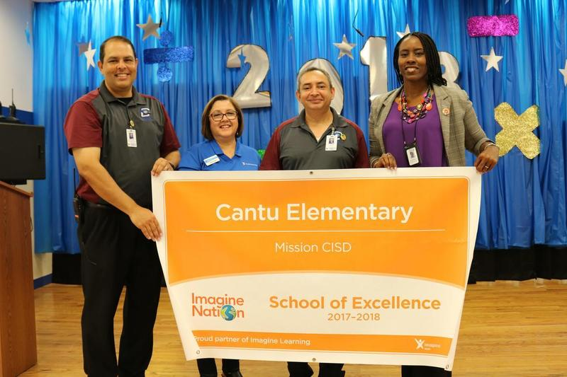 Cantu Elementary students earn Imagine Learning School of Excellence Award Featured Photo