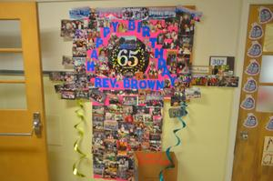 RB 65th anniversary banner