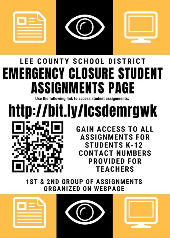 Emergency School Closure Student Assignment Page