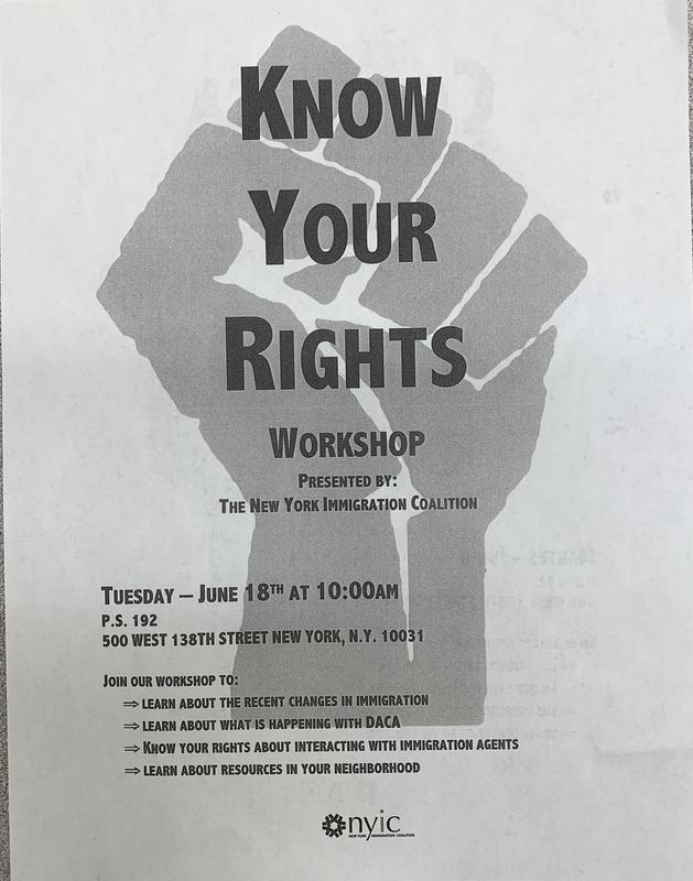 Know your rights flyer English