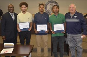WOS football players earn Academic All-State honors.