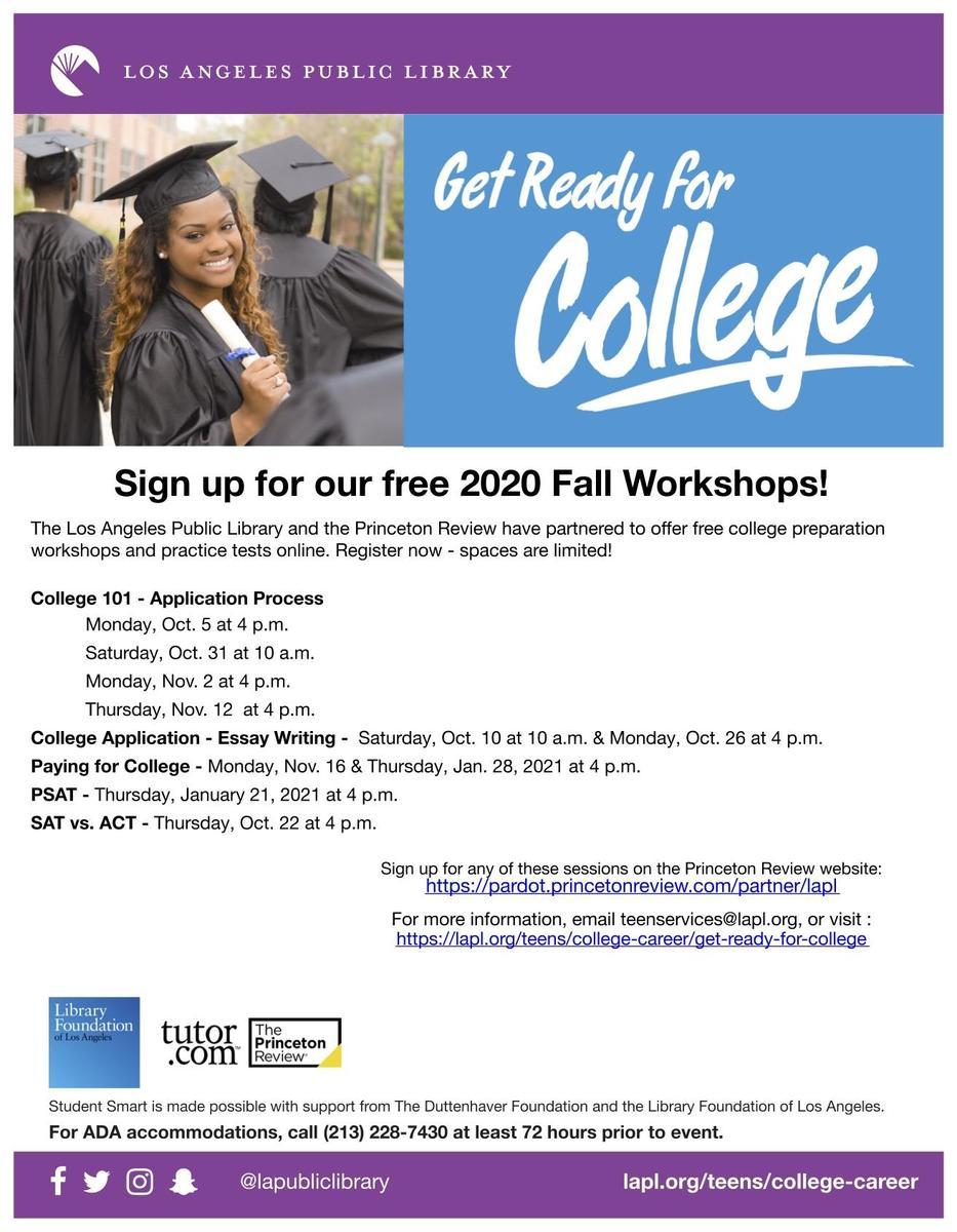 college App workshops