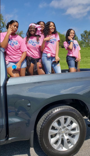 Cheer Squad during 2019 Homecoming Parade