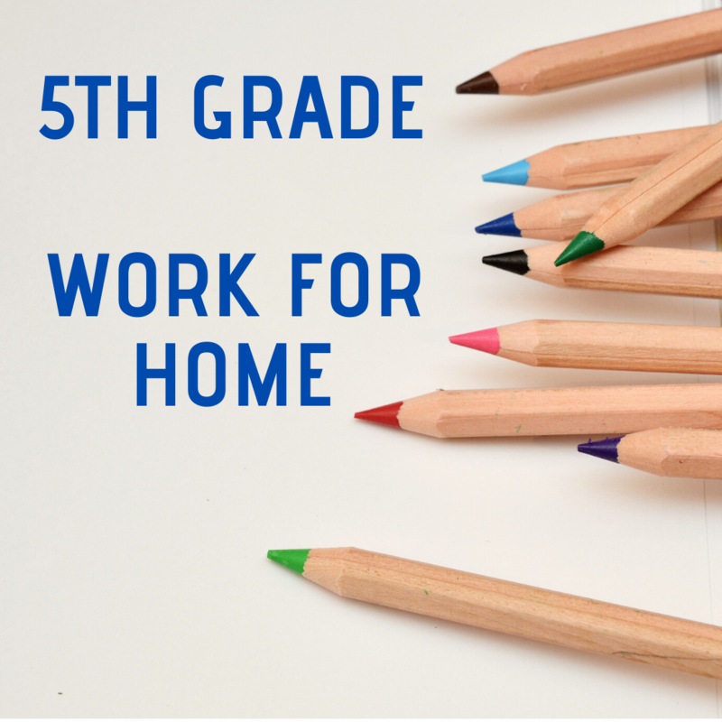 5th Grade - Work for Home Featured Photo