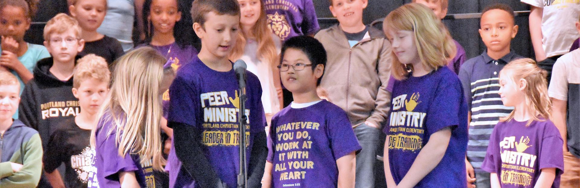 Students performing at Pastor Appreciation Breakfast