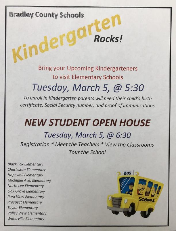 Kindergarten Rocks & New Student Open House