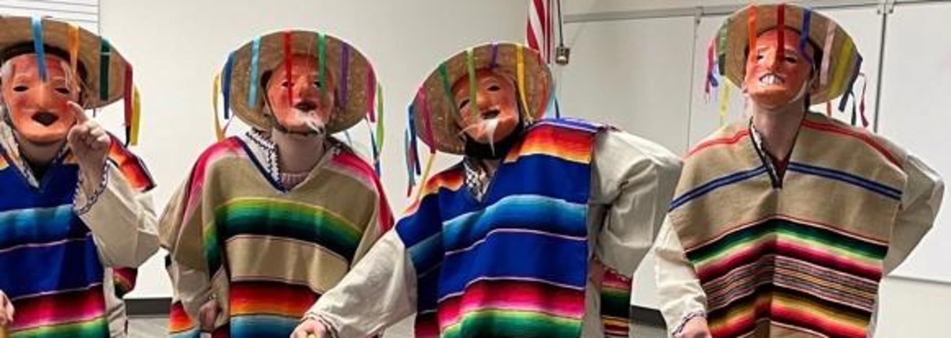 8th grade Challenge Spanish class University of Wyoming World Language Day performance.