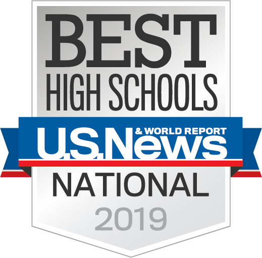 Image result for 2019 US Weekend and World REport badge high schools