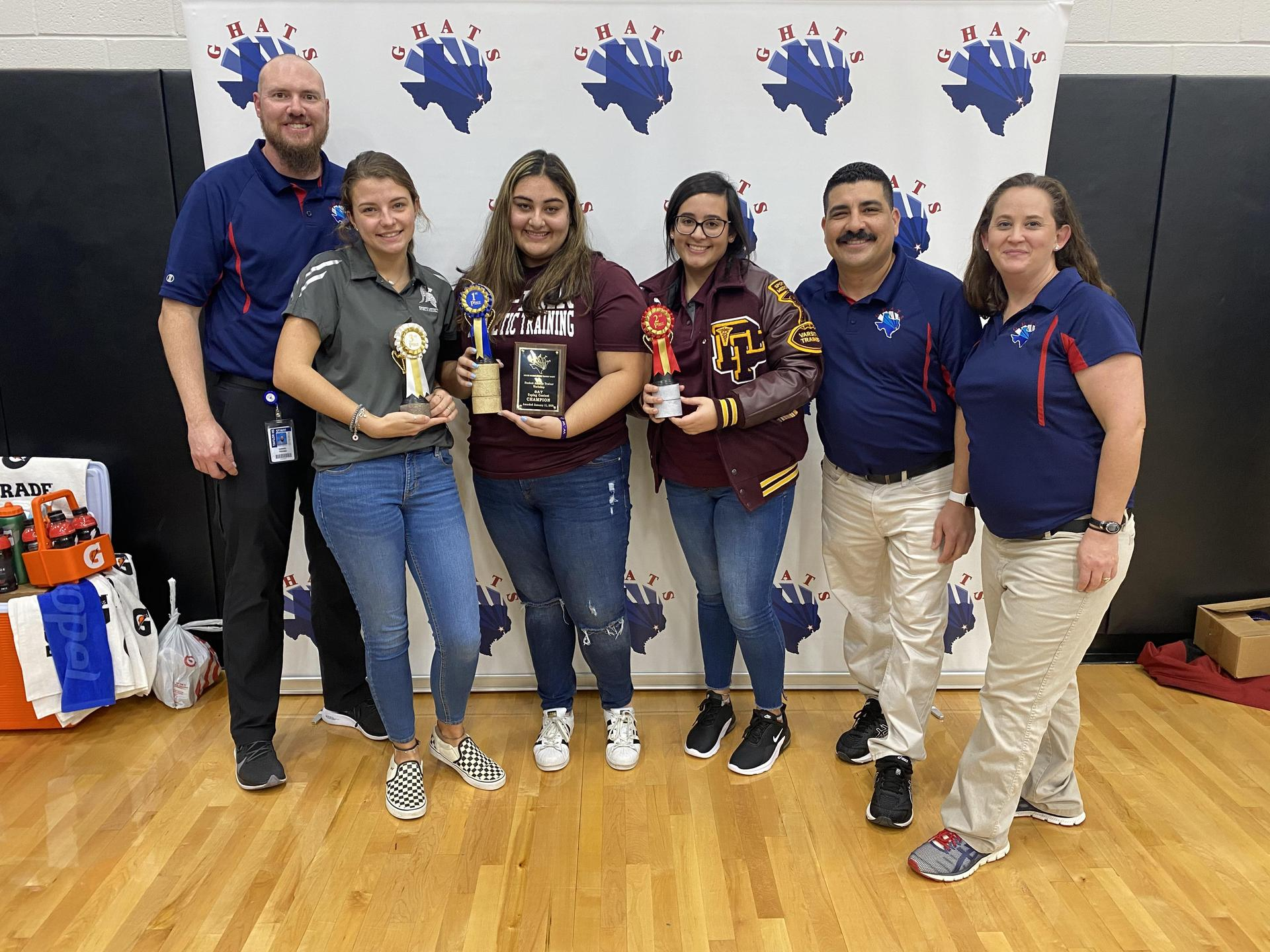 Deer Park High School student athletic trainers