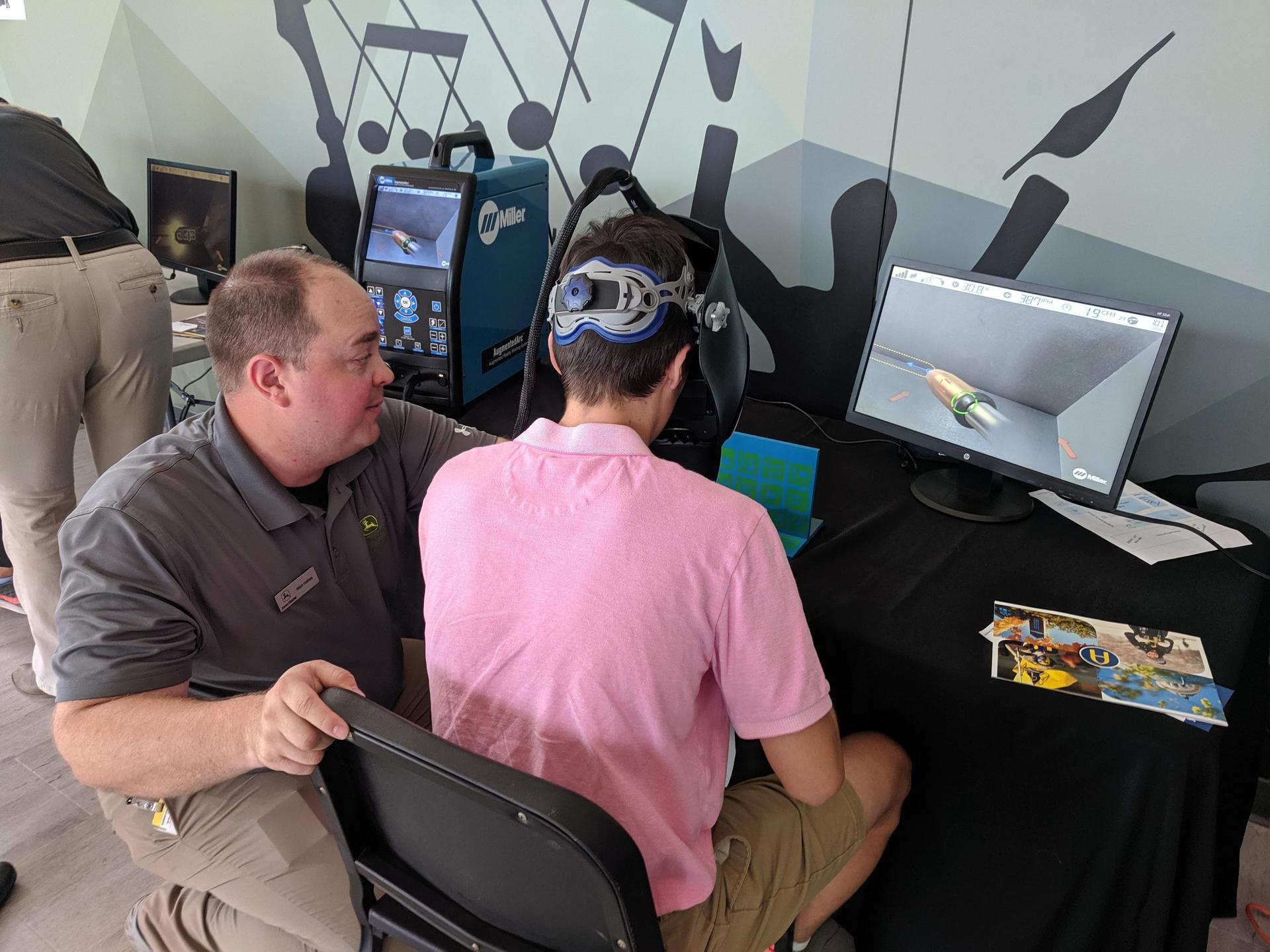 Driving an excavator using a simulator
