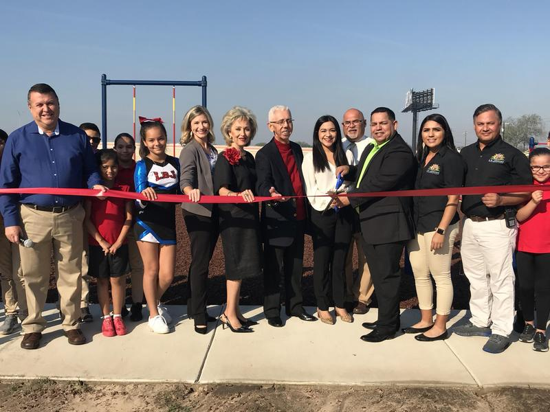 Edinburg CISD's Johnson Elementary School hosts ribbon-cutting ceremony to kick off new Project Fit America Program, which was funded by the Valley Baptist Legacy Foundation.