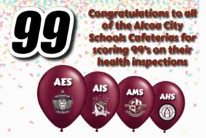 Alcoa Schools Receive 99's on Health Inspections
