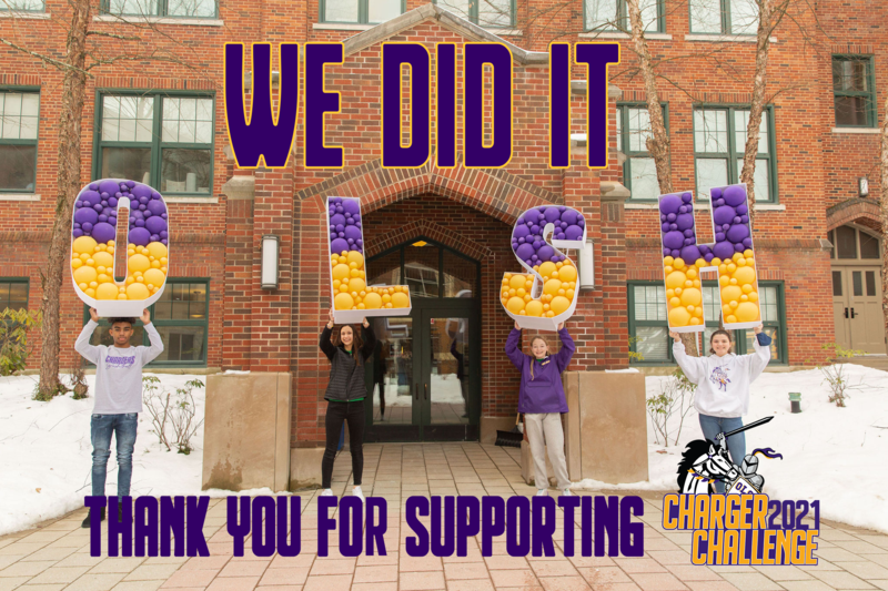 We did it! Thanks for supporting OLSH Charger Challenge 2021