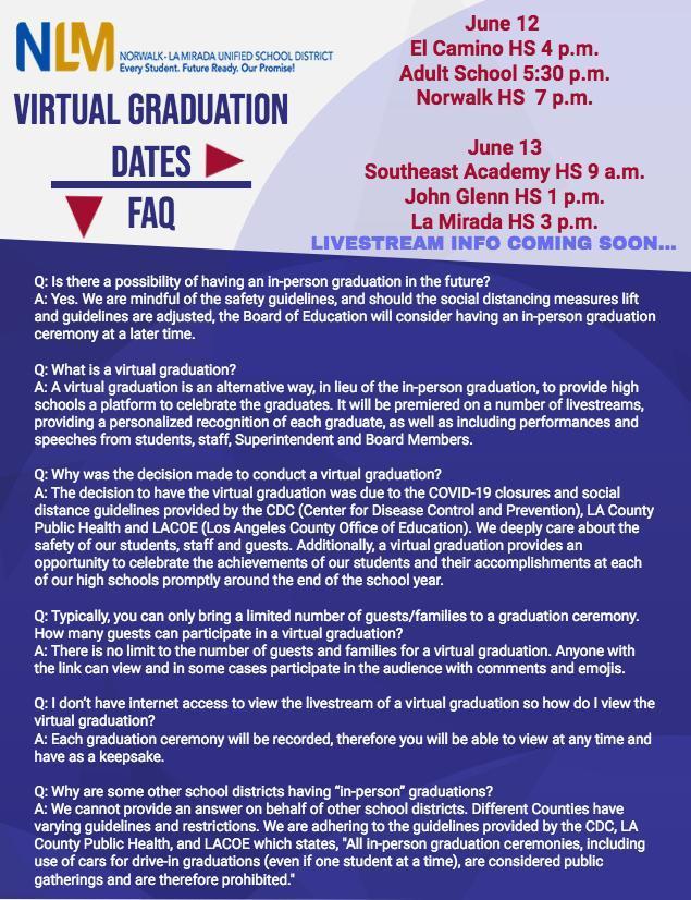 Virtual Graduation FAQ