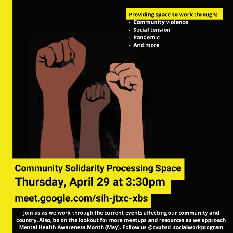Community Solidarity Processing Space Thursday 4/29 Featured Photo