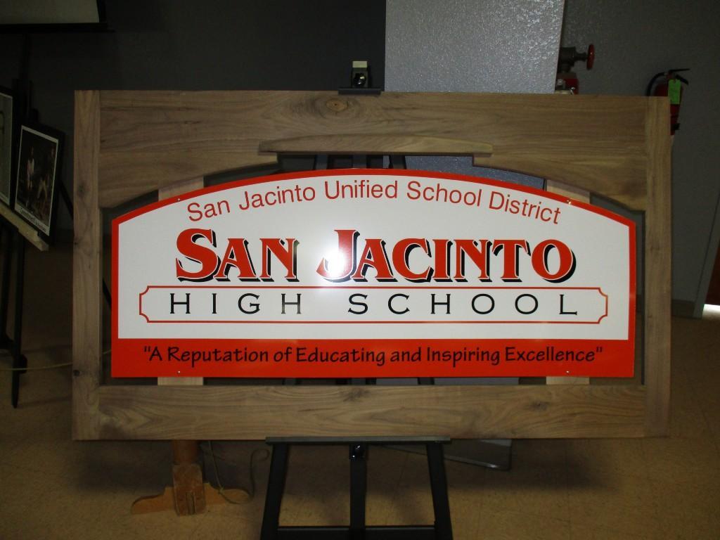 San Jacinto High School wood work design