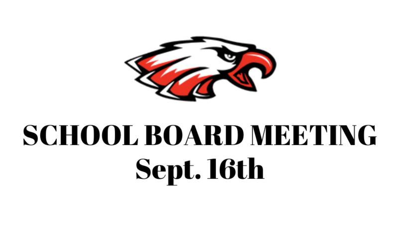 SCHOOL BOARD MEETING - SEPT. 16TH Thumbnail Image