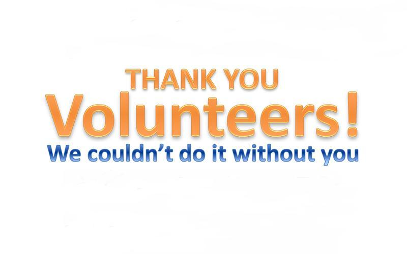 Volunteers Thank You Graphic
