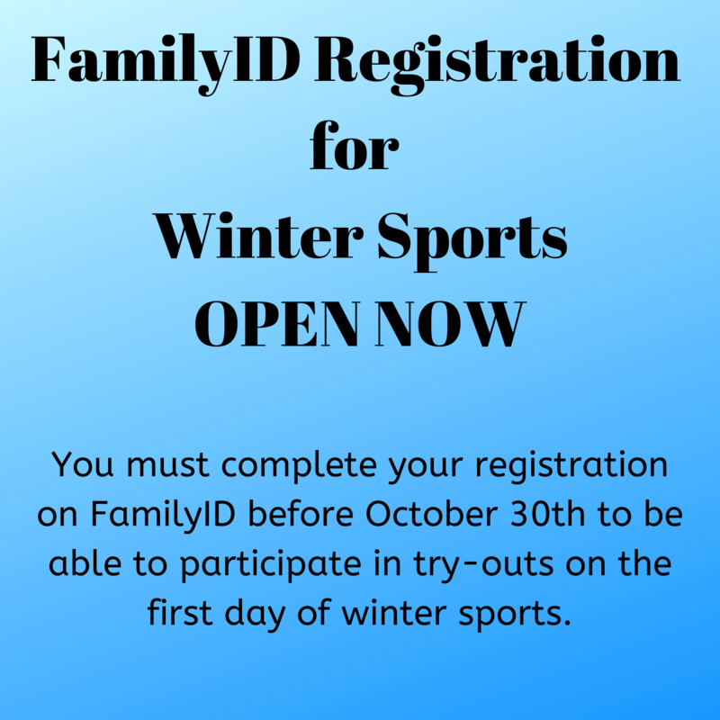 Winter Athletic Registration - Click for More Information Thumbnail Image