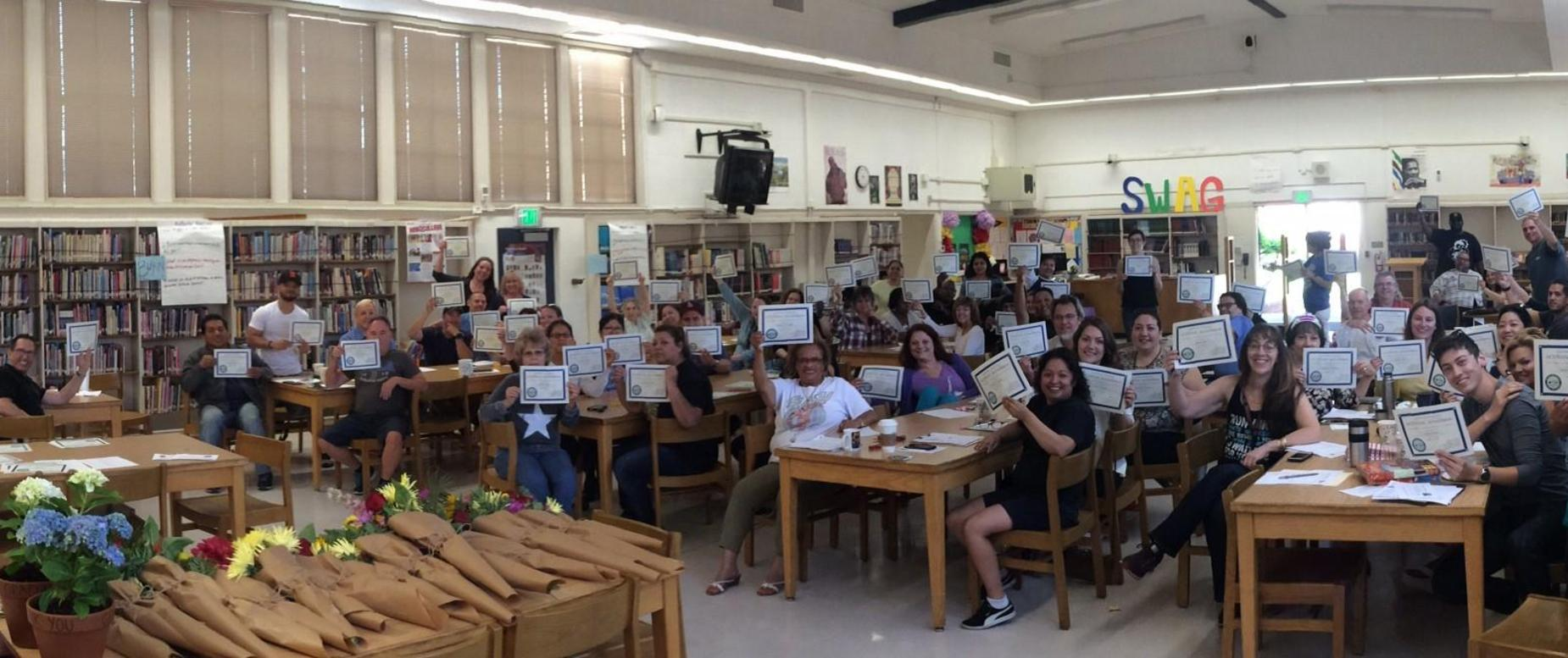 WASC Certificates for Staff