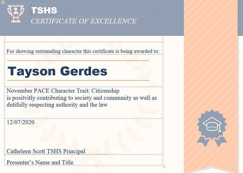 November Pace Award Character Trait: Citizenship Thumbnail Image