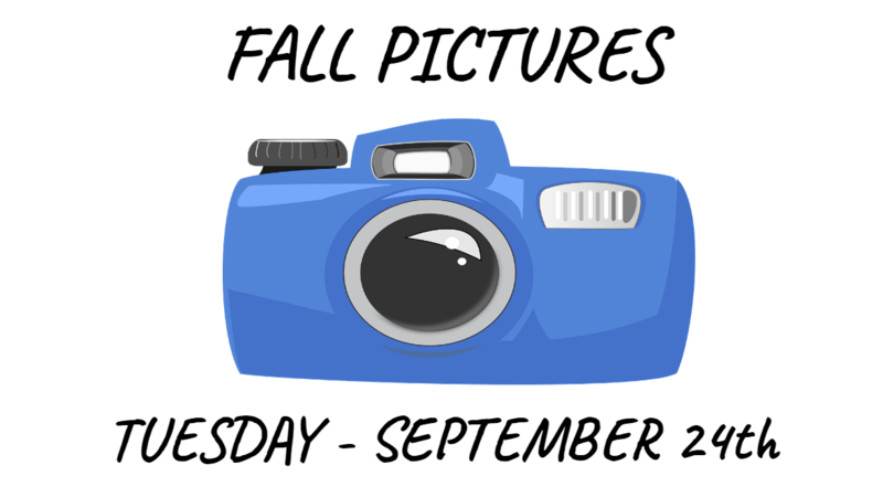 PICTURE DAY - TUESDAY, SEPTEMBER 24th Thumbnail Image