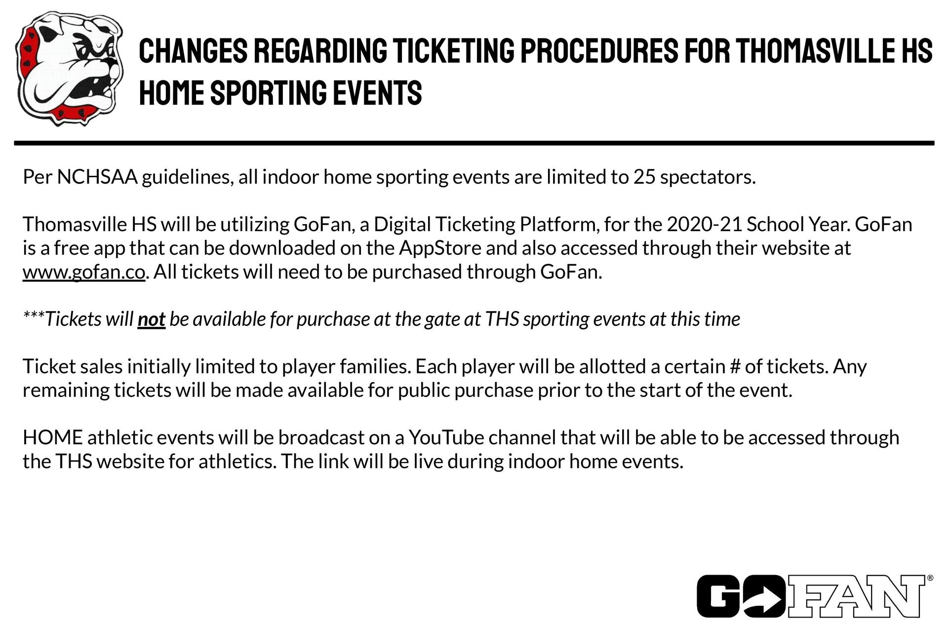 Ticketing Changes