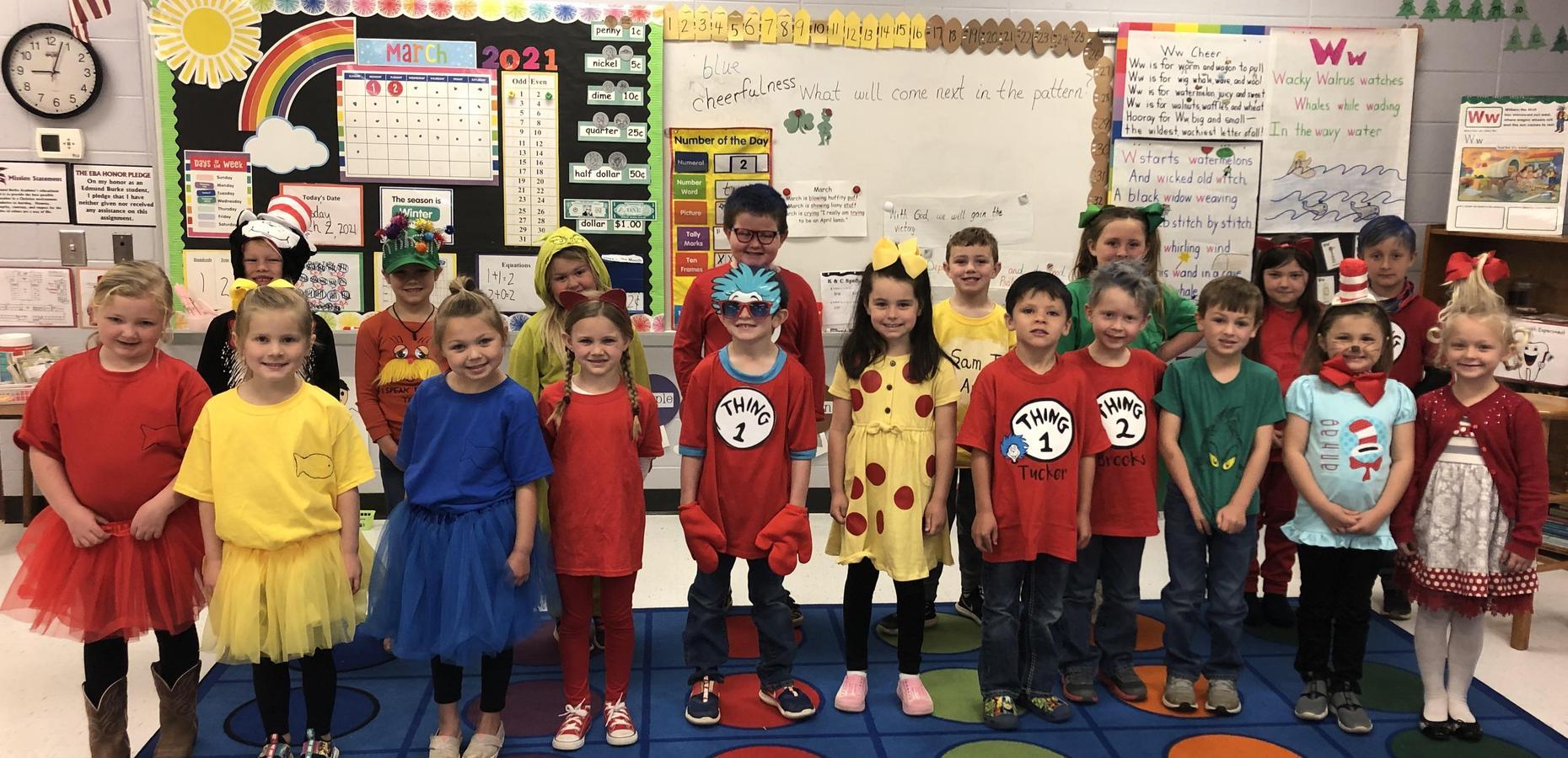 K5 celebrates Dr. Seuss' birthday!