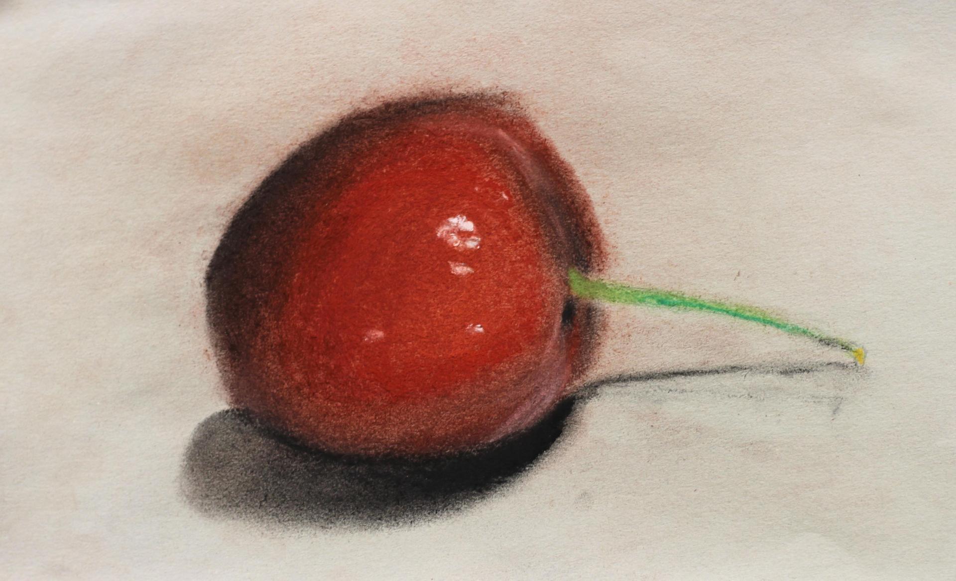 AHS Art oil painting of cherry