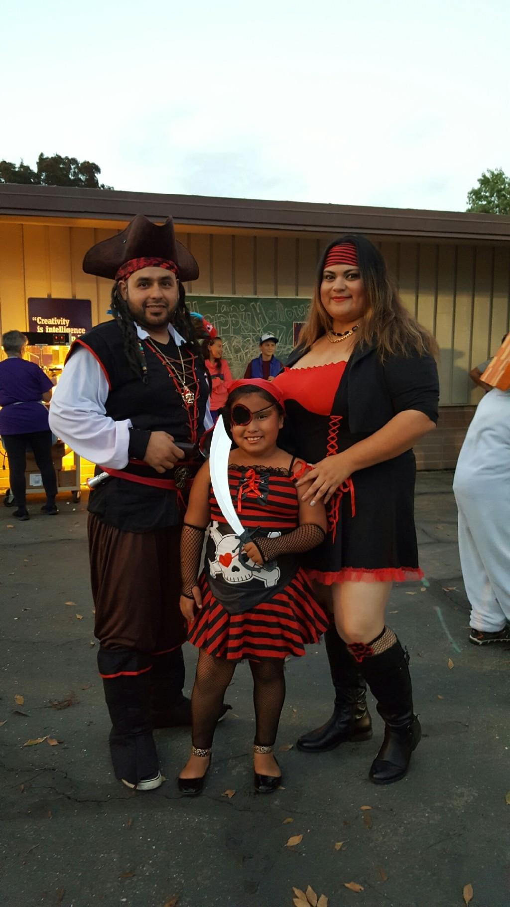 pirate family at the fall carnival