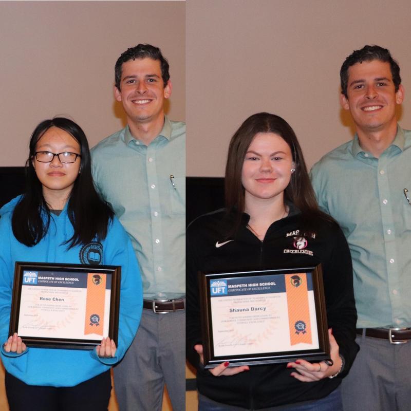 Maspeth High School UFT Recognizes Student Achievement Featured Photo