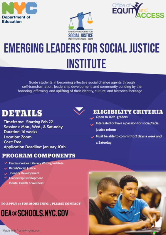 EMERGING LEADERS FOR SOCIAL JUSTICE INSTITUTE