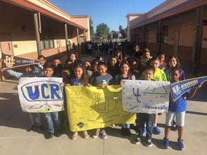 Students representing University of California, Riverside, and University of California, Irvine