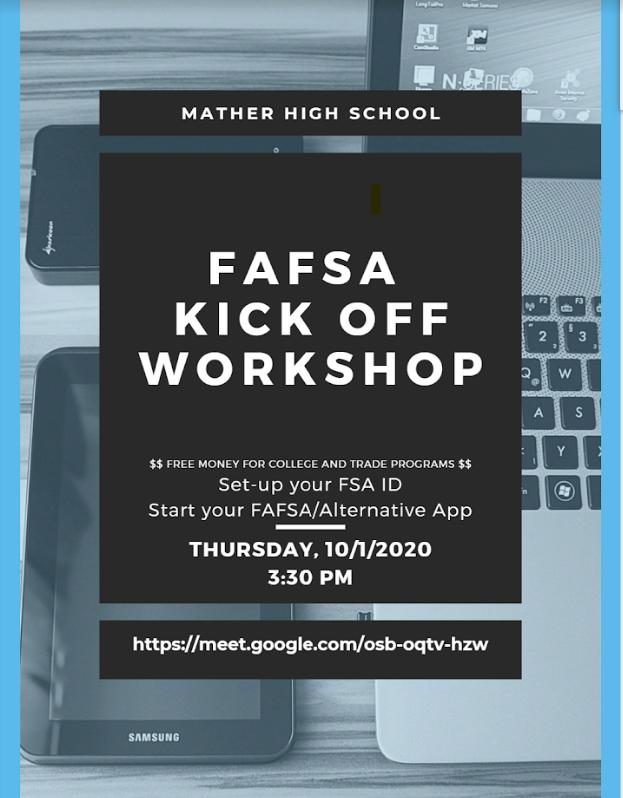 FAFSA Kick Off Workshop, October 1 Featured Photo