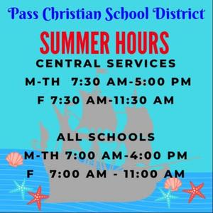 PCSD Summer Hours