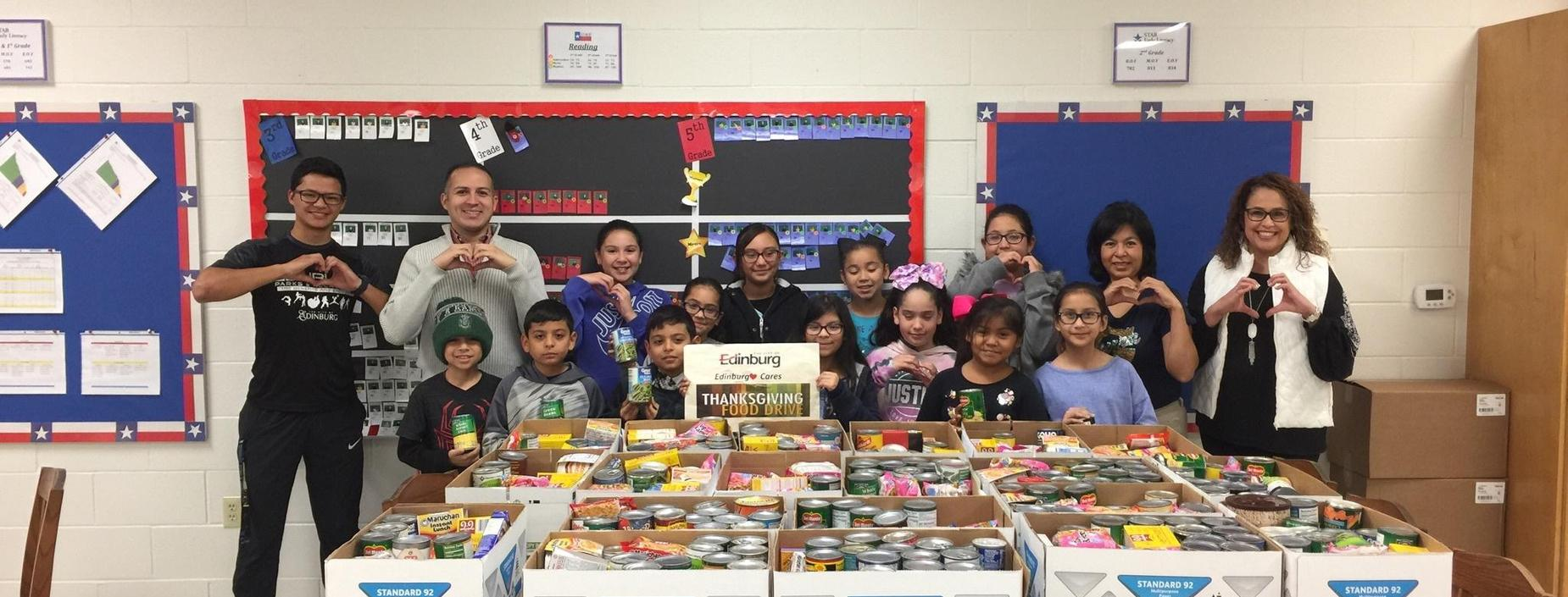 Student Council canned food drive