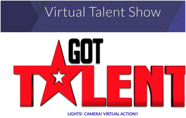 Virtual Talent Show sign
