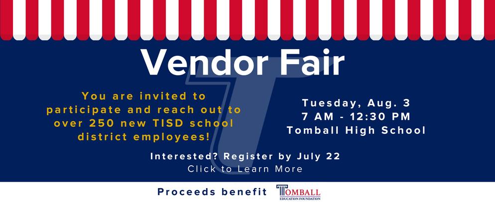 Vendor Fair August 3