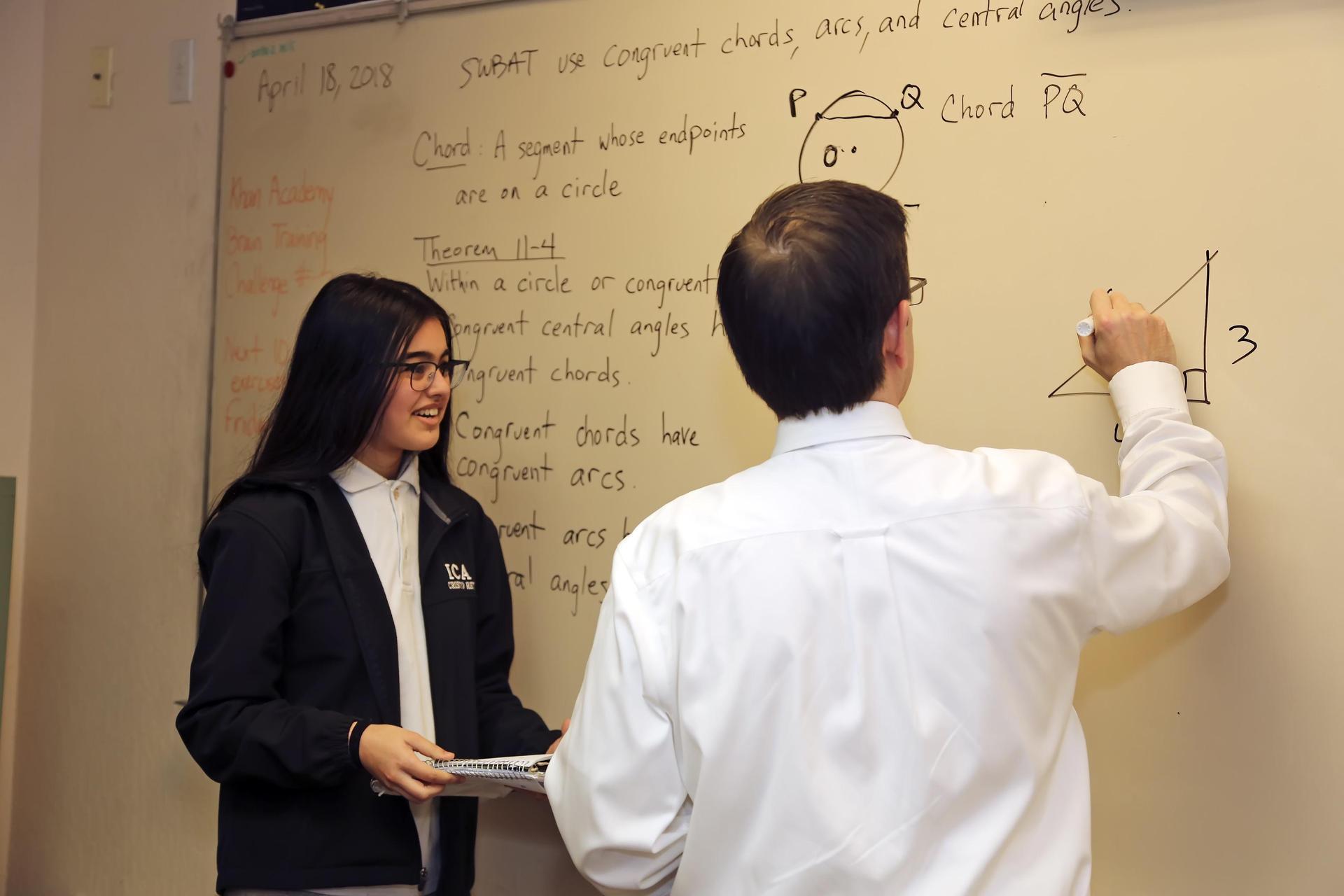teacher and student classroom