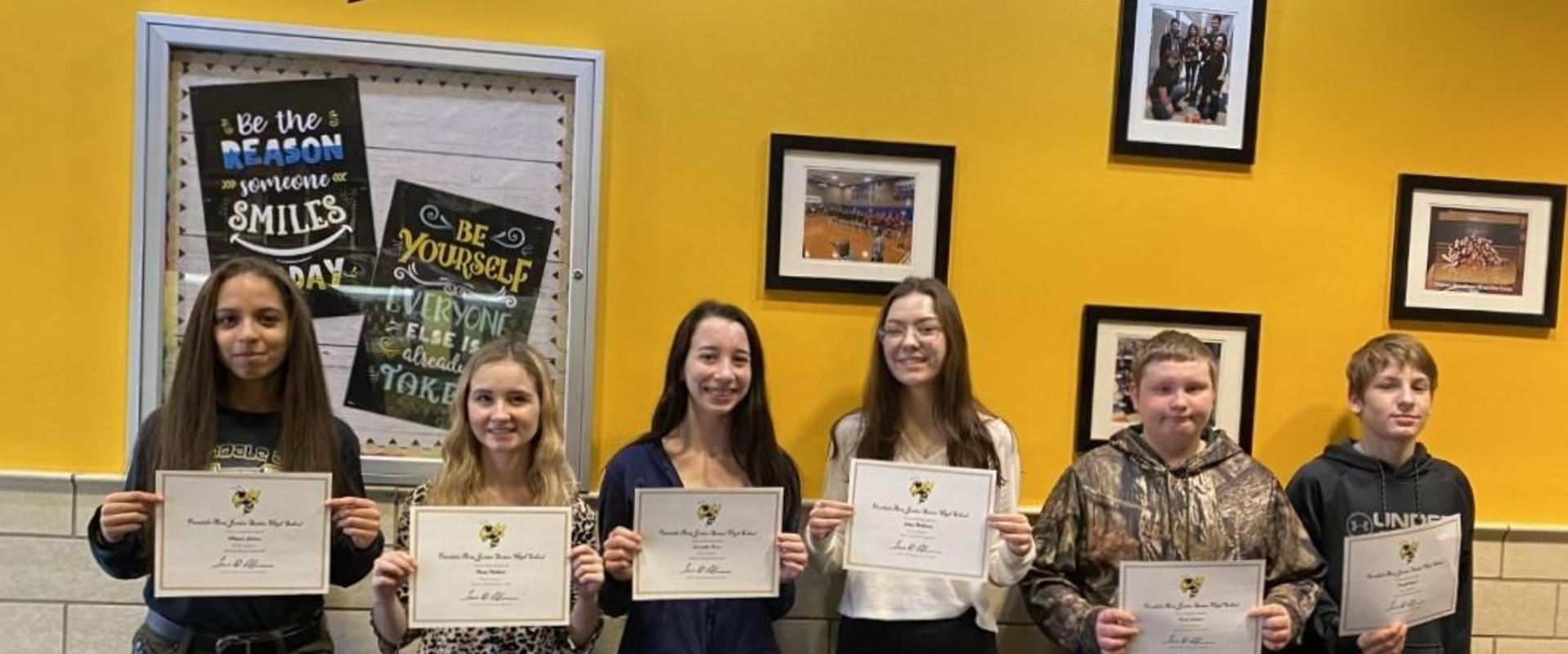 FASD Jr./Sr. HS - February Students of the Month