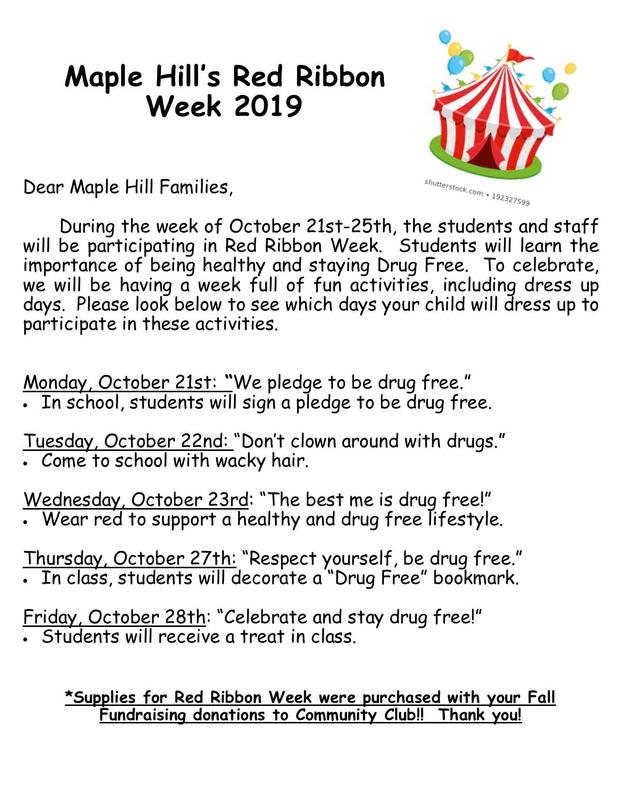 Red Ribbon Week, 10/21 - 25! Featured Photo