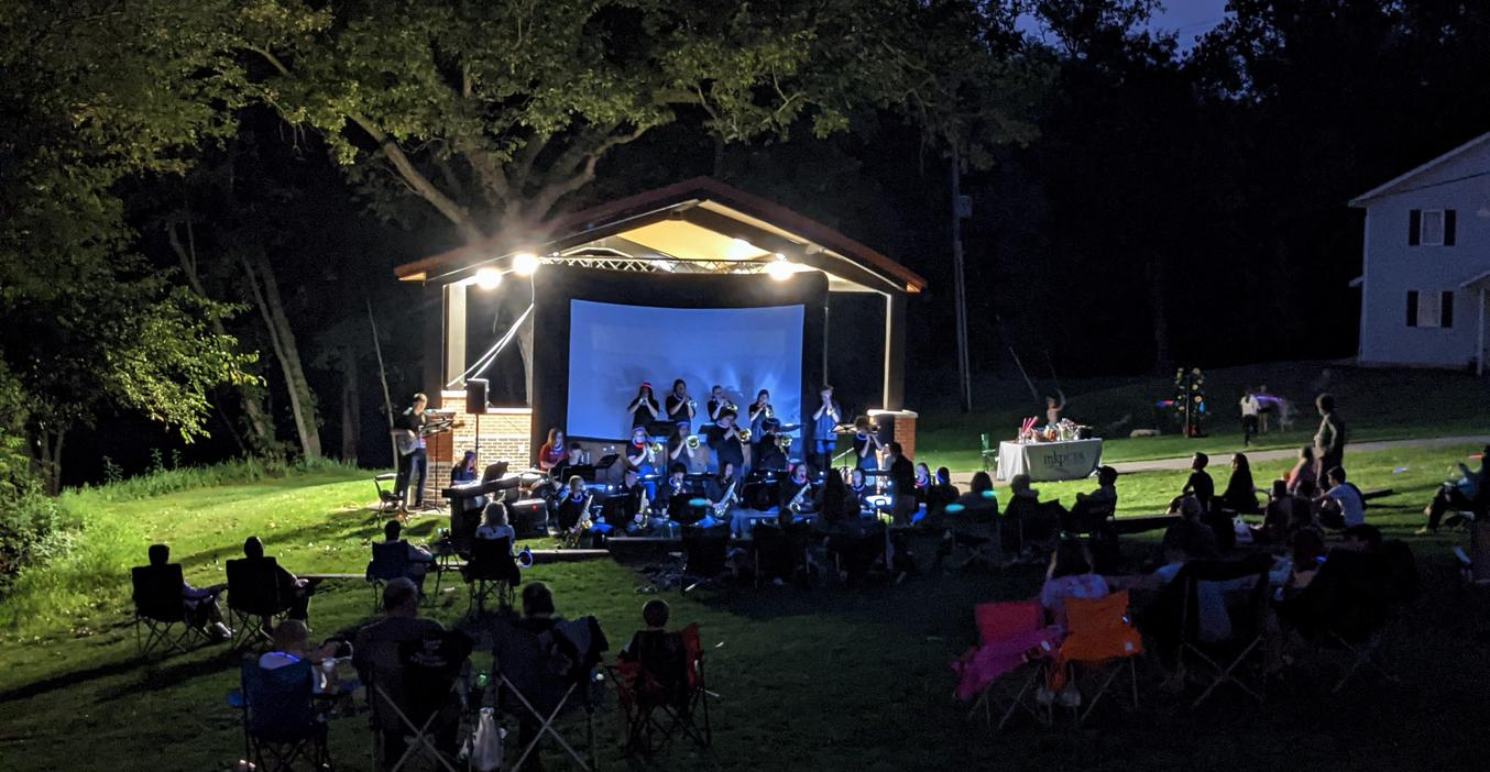 TKHS Jazz Band performs a concert at the amphitheater in Middleville.