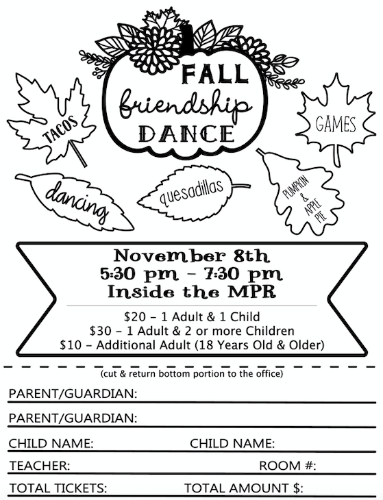 PTA Fall Friendship Dance