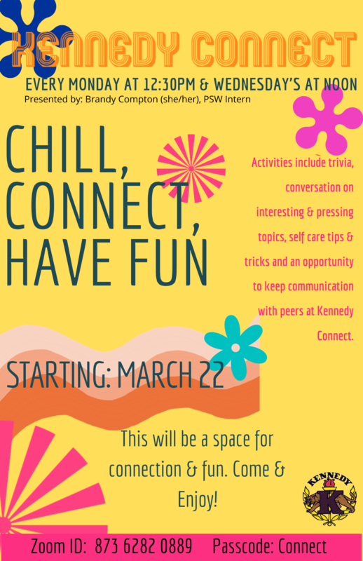 Chill, Connect, and Have Fun! Every Monday at 12:30 and Wednesday's at Noon Featured Photo