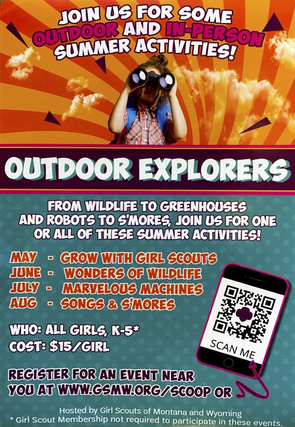 Girl Scouts Outdoor Adventurer flyer