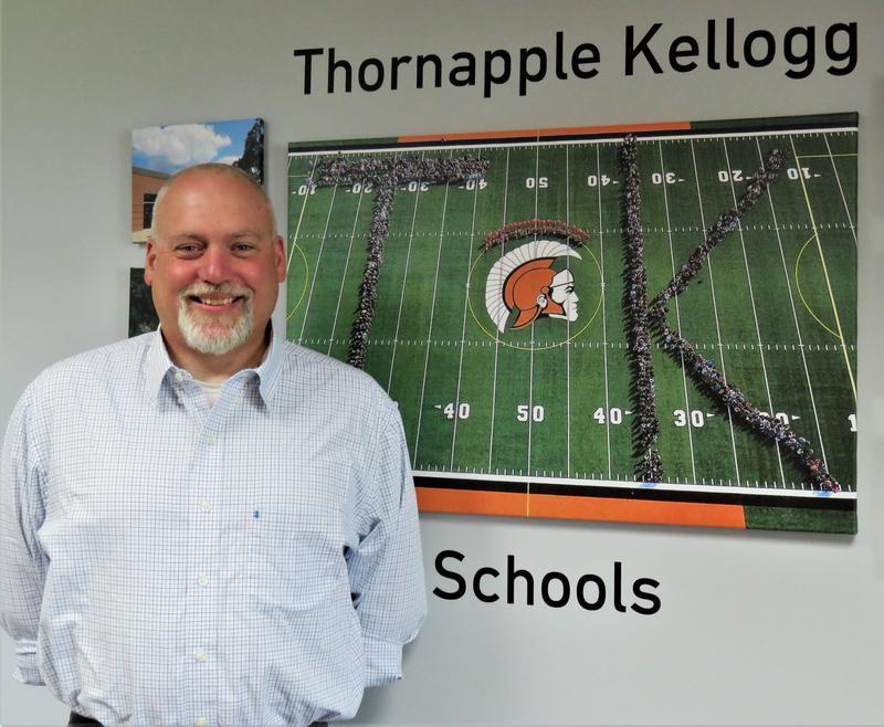 Tony Bush was hired as the new assistant principal at Thornapple Kellogg High School.