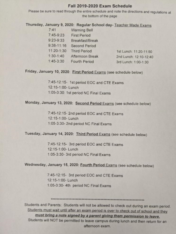 Fall 2019 Exam Schedule Thumbnail Image