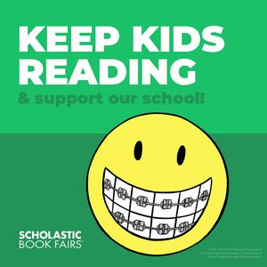 graphic about reading - smiley face with braces
